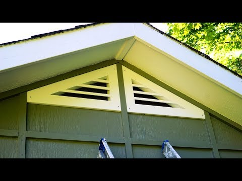 How To Make Triangular Gable Vents