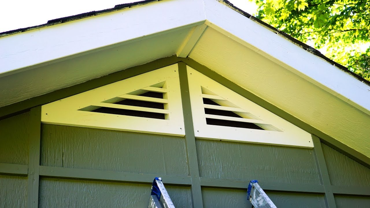 How To Make Triangular Gable Vents Youtube