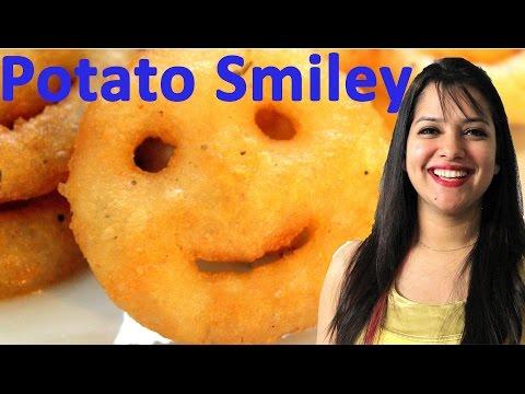 Potato Smiley Recipe in हिन्दी | How to make Potato Smiley | Kids Gluten free Snack | Potato Smiles