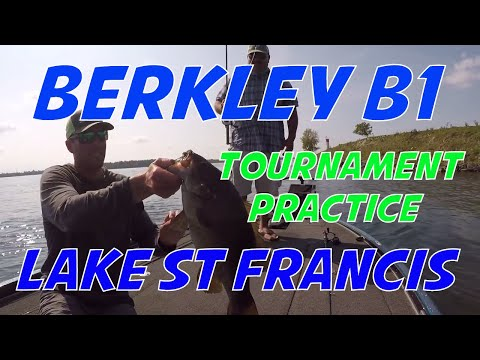 Berkley B1 Lake St Francis St Lawrence River Bass Tournament Practice Video