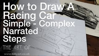 How to Draw a Racing Car Audi A4 Rob Austin BTCC - The Basics Part 3 Using a Grid