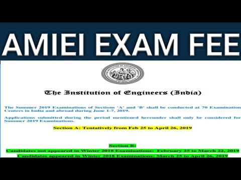 How to fill AMIEI exam fee online