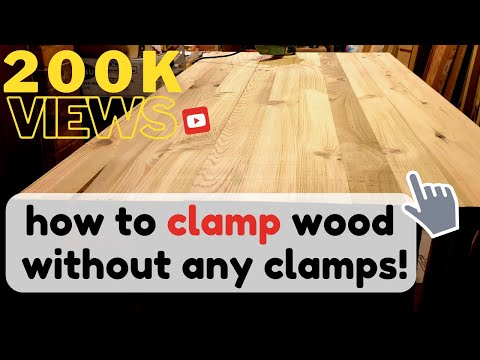 How to clamp wood without any clamps !