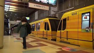 Buenos Aires地下鉄B線 Madrid Metro CAF6000 H1編成 De los Incas - Parque Chas駅発車