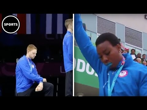 US Athletes Protest During National Anthem At Pan Am Games