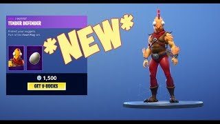 *New* TENDER DEFENDER Skin In Item Shop - Fortnite ( NEW Item shop )