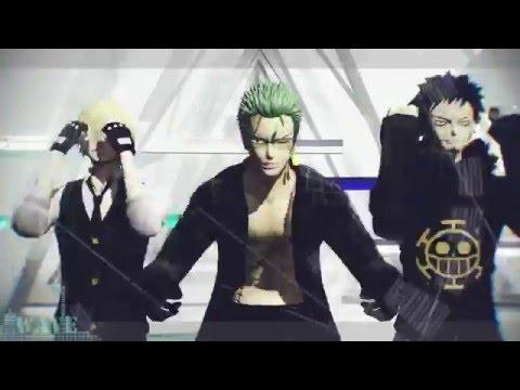 【MMD】 Law, Sanji & Zoro | WAVE 【akio】