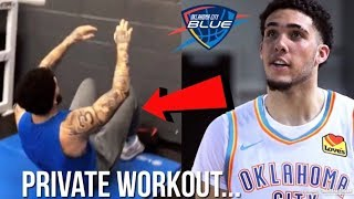 First Look At LiAngelo Ball PRIVATE WORKOUT With The OKC City Blue...