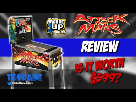 Arcade1up Attack From Mars Pinball Full Review! Is it worth $599? from ToyKade