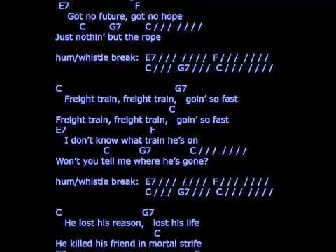 'Freight Train' - lyrics & chords - strum your ukulele along with Chas McDevitt & Nancy Whiskey