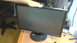 Серый экран / Полосы / Дефекты изображения на мониторе Acer V203H