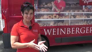 Auf Tour mit dem Gebäck-Express der Bäckerei Weinberger