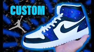 Download CUSTOM Galaxy Jordan 1's !!  Jordan Vincent Mp3 and Videos