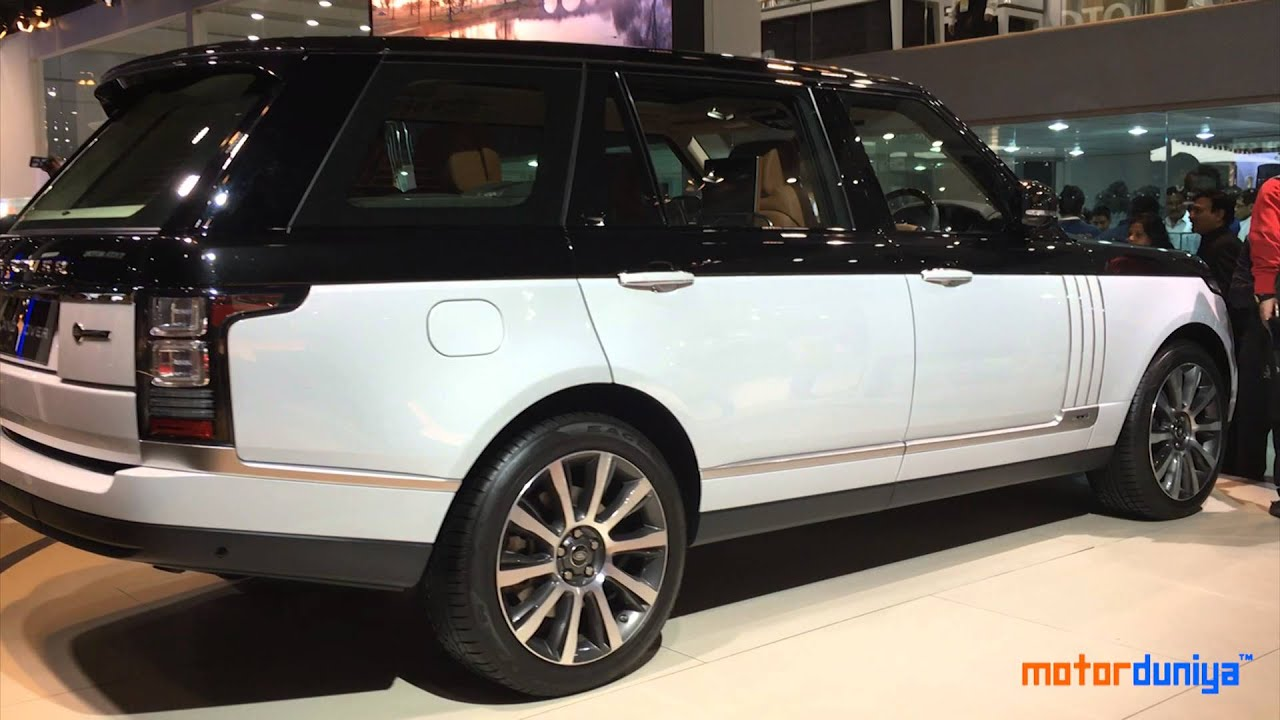 2017 Range Rover Autobiography >> Land Rover Range Rover SV Autobiography LWB | Auto Expo 2016 | Motor Duniya - YouTube