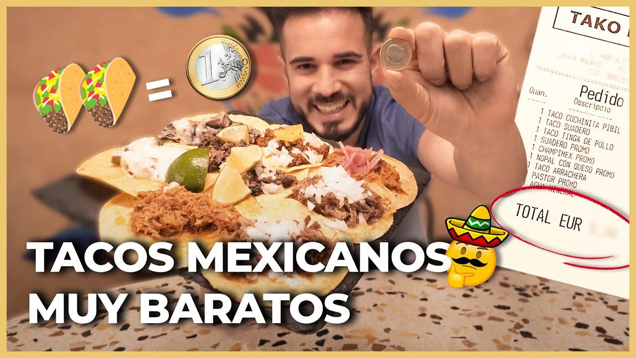 Los TACOS MÁS BARATOS de MADRID [MENOS DE 1€] ¿Chollo o ENGAÑO?