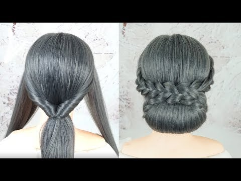 Low Chignon Bun Tutorial - Perfect Low Bun Hairstyles For Wedding Or Party | Simple Bridal Hairstyle thumbnail