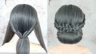 Low Chignon Bun Tutorial - Perfect Low Bun Hairstyles For Wedding Or Party | Simple Bridal Hairstyle