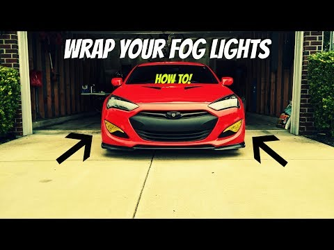 Wrap Your Fog Lights YELLOW! How To-Genesis Coupe