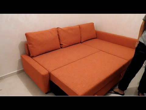 assembly friheten sofa bed from ikea youtube. Black Bedroom Furniture Sets. Home Design Ideas