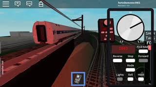 Roblox Amtrak ACS-64 pulling train 173 to Newark penn station