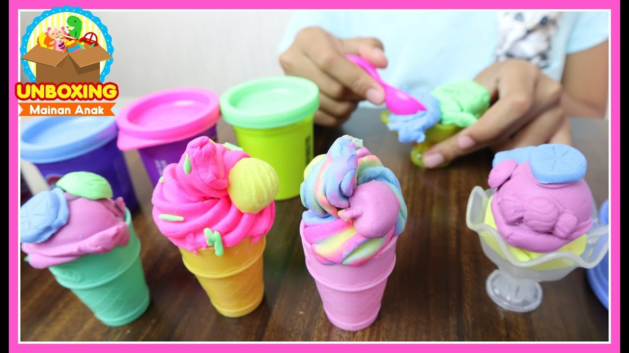Mainan Anak Play Doh Ice Cream Play Doh Swirl Scoop Ice Cream