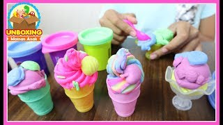Download Video Mainan Anak Play Doh Ice Cream - Play Doh Swirl & Scoop Ice Cream - How To Make Ice Cream With Toy MP3 3GP MP4