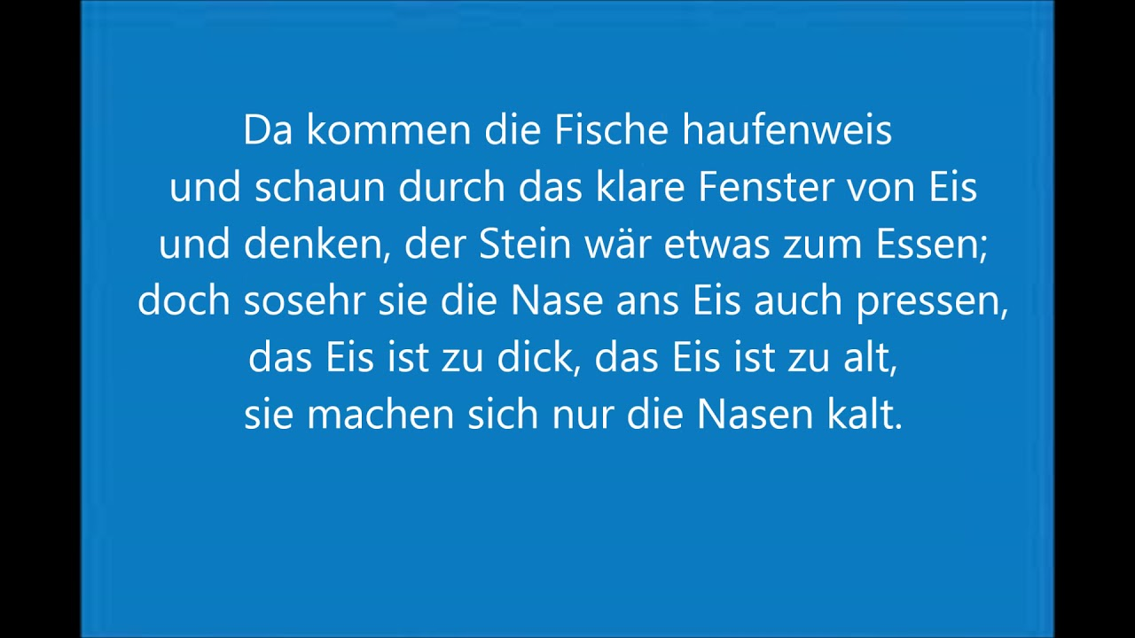 Wenn Es Winter Wird Christian Morgenstern Gedicht Lesung Mit Text Kinder Hörbuch Deutsch