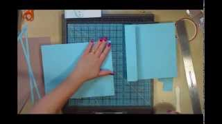 Desktop Flip Style Mini Scrapbook Album Part1