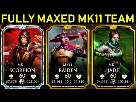 Mortal Kombat Mobile. Playing With MAXED MK11 Team. It's INCREDIBLE!