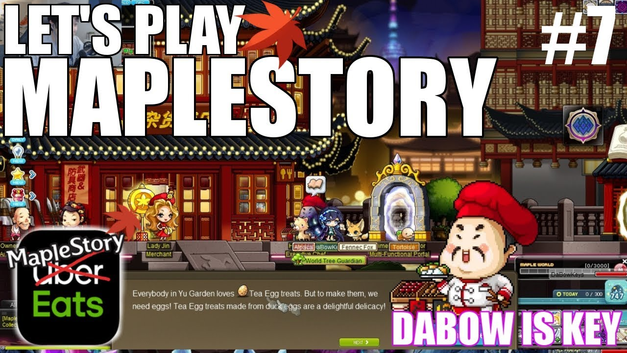 My first uber eats experience | MapleStory [DaBow is Key Ep.7]