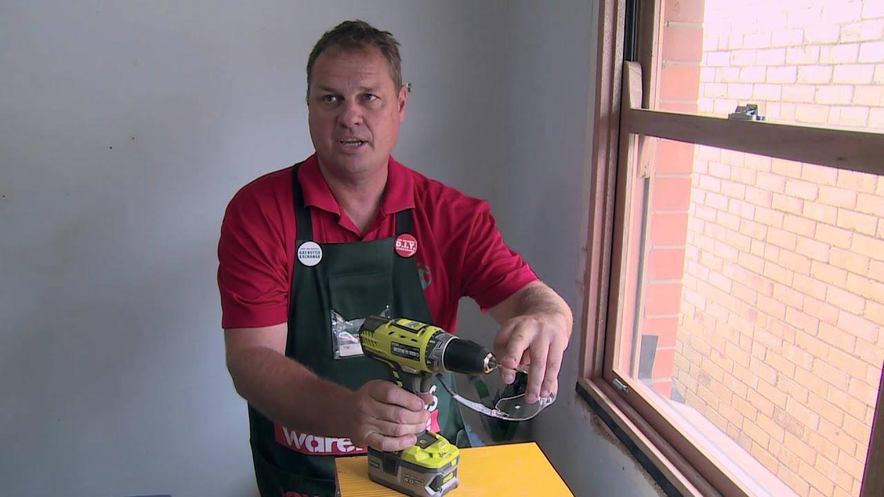 How To Install Sash Window Locks - DIY At Bunnings - YouTube