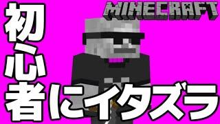 【マインクラフト】マイクラ初心者にイタズラしてみた thumbnail