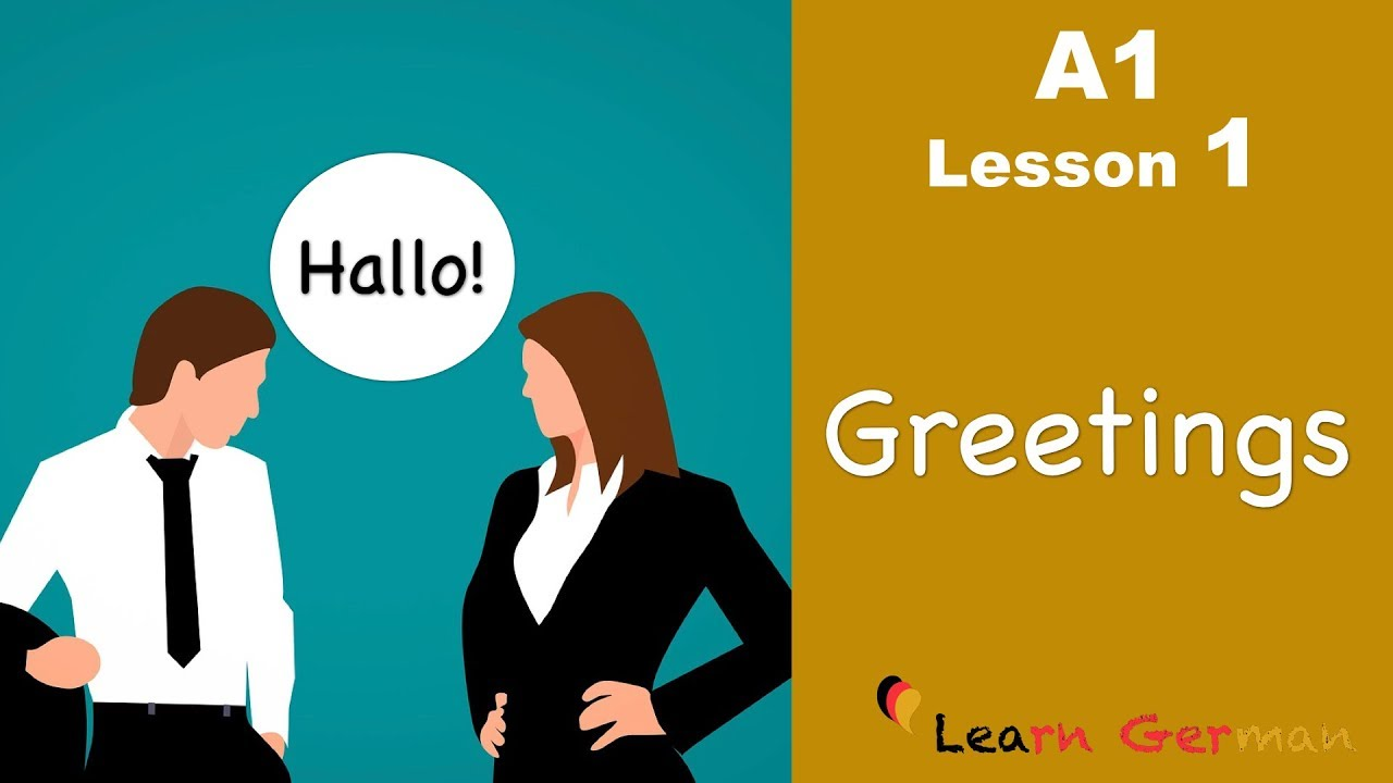 Learn German Greetings German For Beginners A1 Lesson 1