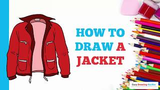 How to Draw a Jacket in a Few Easy Steps: Drawing Tutorial for Kids and Beginners
