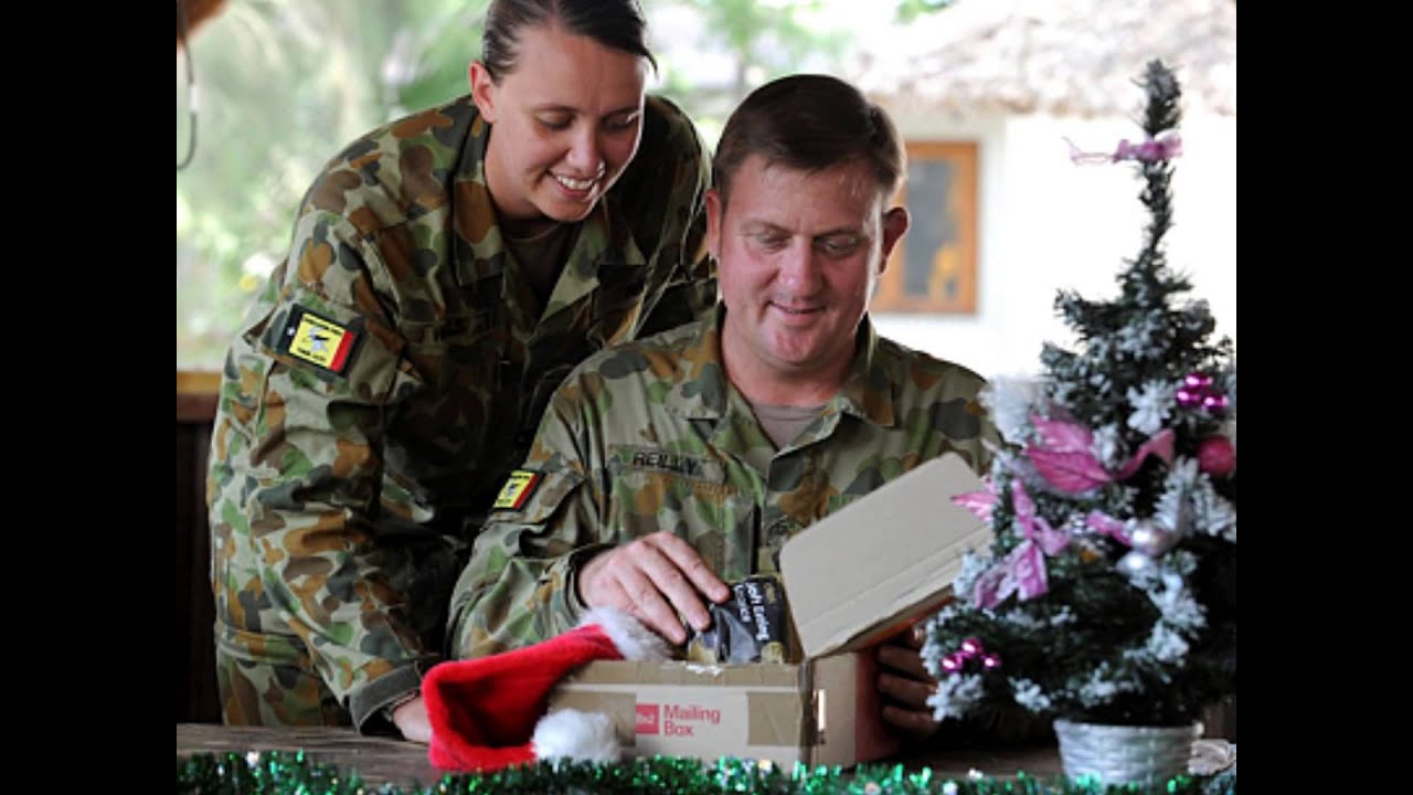 christmas tribute australian defence forces camouflage christmas lights by rodney carrington