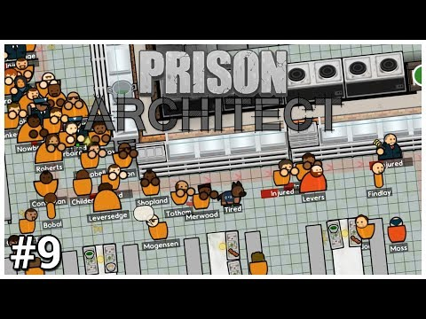 Prison Architect - #9 - RUN AWAY! - Let's Play / Gameplay / Construction