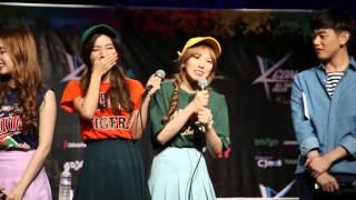 KCON 2015 Red Velvet Fan Meeting - Aegyo HD