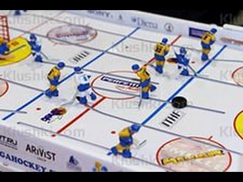 Stiga Play Off лучший настольный хоккей - YouTube