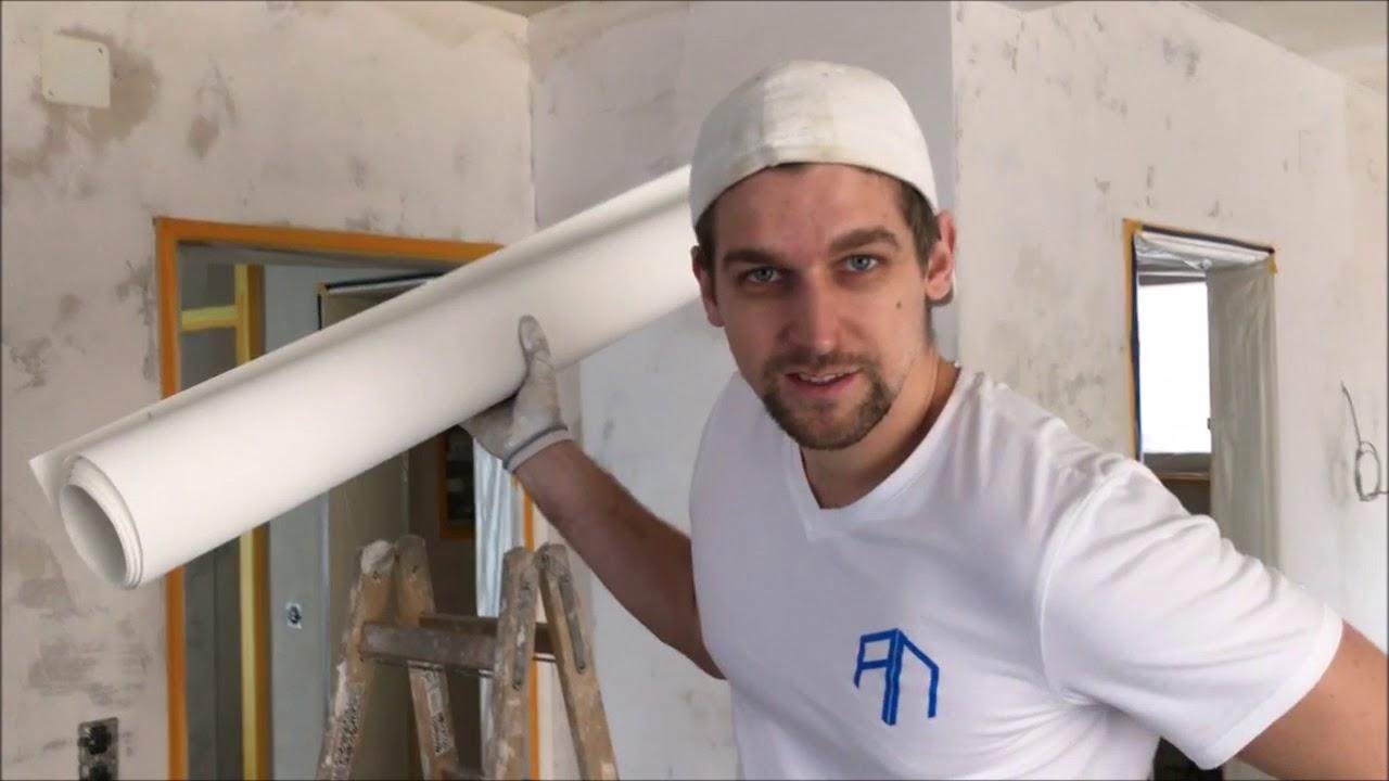 Decke Alleine Mit Malervlies Tapezieren Vom Wandprofi Erklart Youtube