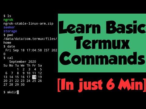 Termux basic commands