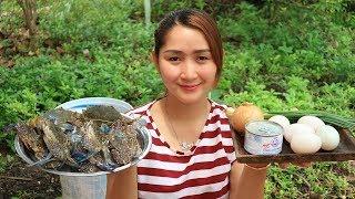 Yummy Blue Crab Stir Fry With Salty Egg Recipe - Blue Crab Cooking With Salty Egg - Cooking With Sro