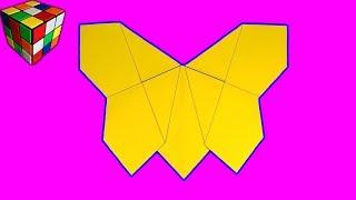 Как сделать БАБОЧКУ из бумаги. Бабочка оригами своими руками. DIY поделки