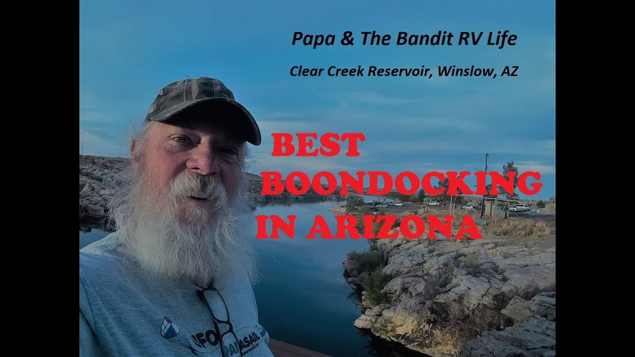 MCHOOD PARK, AZ  Free Boondocking, Clear Creek Reservoir, Fishing,  Swimming, Boating, Hiking,