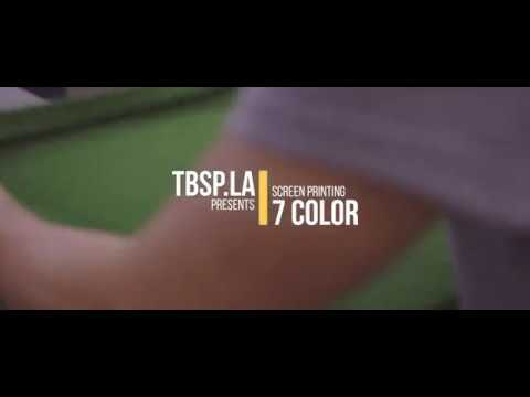 How To: 7 Color Screen Printing / TBSP.LA / Made in Los Angeles