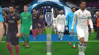UEFA Champions League Final - Real Madrid vs Barcelona - PES 2017 Gameplay