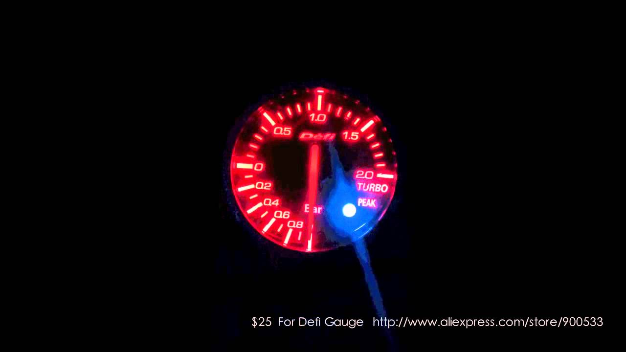 Defi Bf Turbo Boost Gauge Only 25 Youtube Wiring Wrx