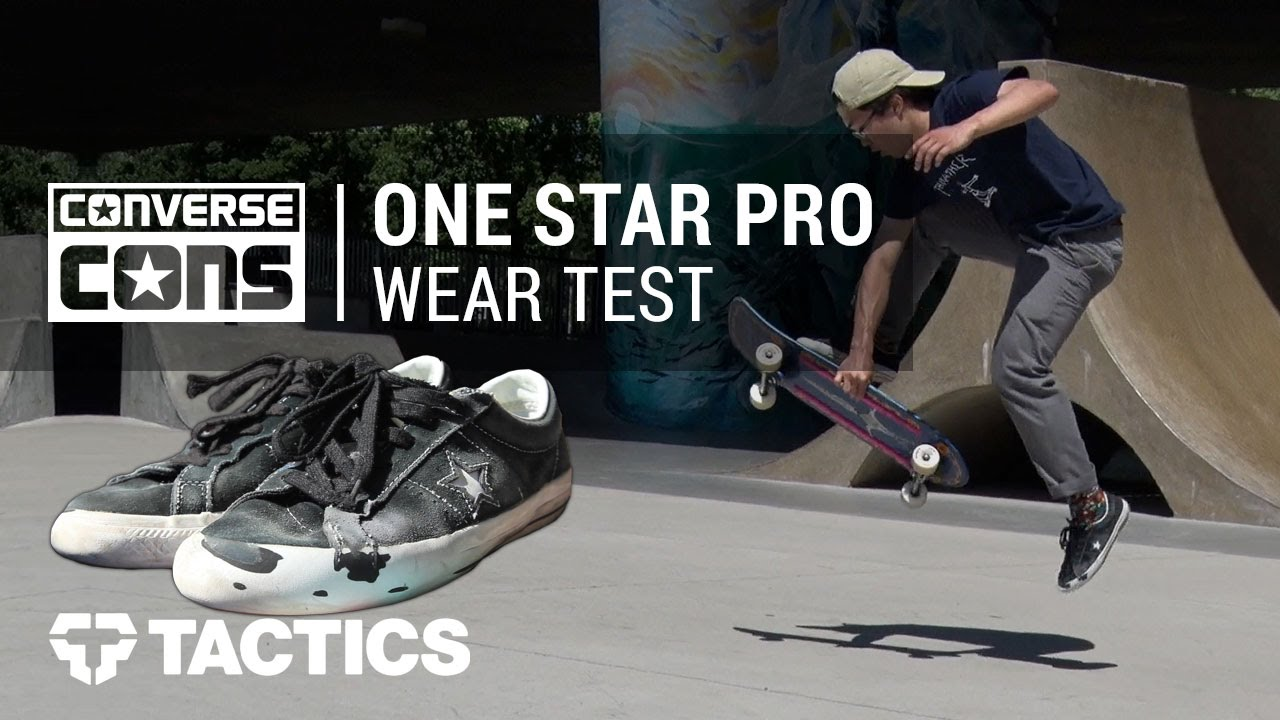 Converse One Star Pro Skate Shoes Wear Test Review - Tactics.com ... 528f4c1875