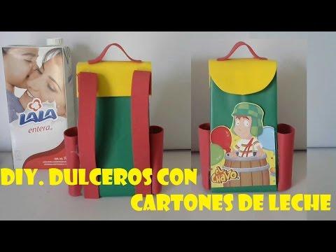 DIY.COMO HACER DULCERO DEL CHAVO DEL OCHO CON CARTONES DE LECHE ...