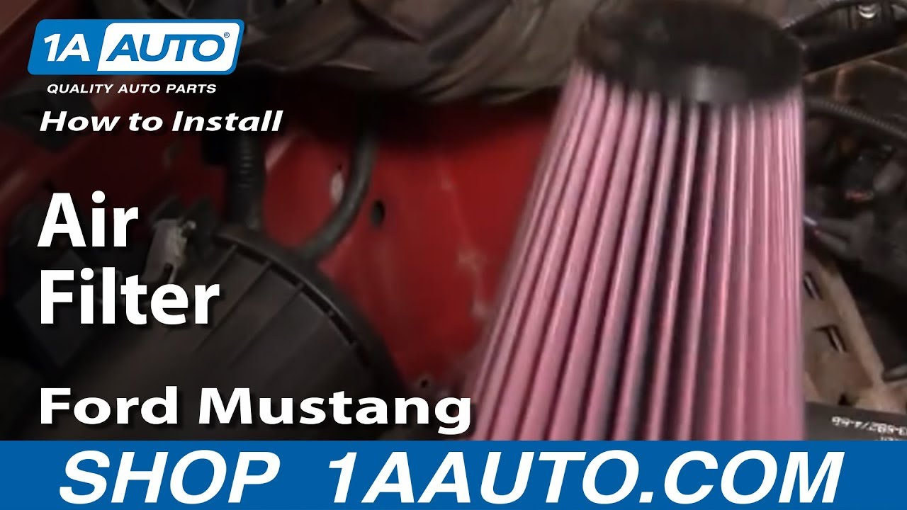 how to install replace air filter ford mustang 94 04 3 8 l v6 1aauto com [ 1280 x 720 Pixel ]