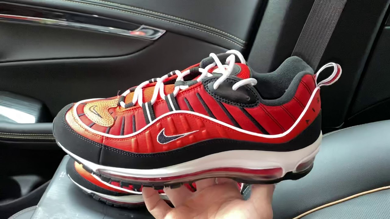 Nike Air Max 98 Basketball Habanero Red